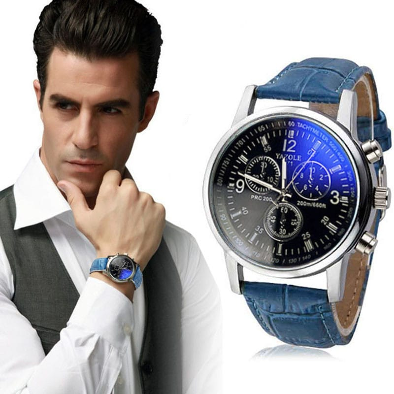 yazole mens watches top brand luxury mens business clock mal